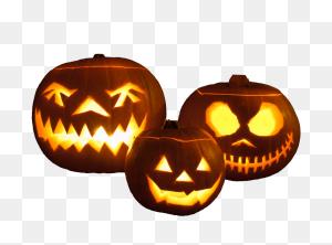 Three Halloween Pumpkins Png - Pumpkins PNG