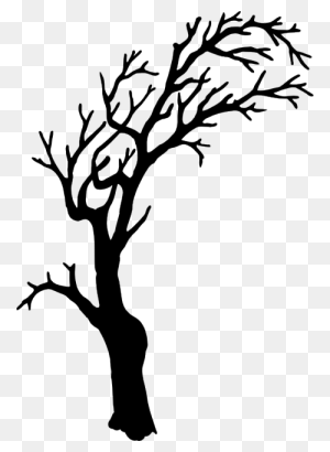 Tree Silhouette Scary, Silhouettes And Cricut - Tree Silhouette PNG