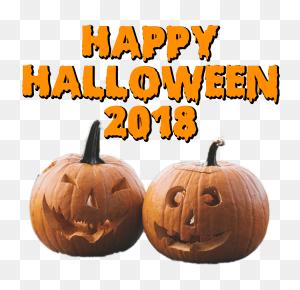 Two Pumpkins Happy Halloween Transparent Png - Pumpkins PNG