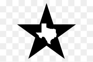 U S Custom Tees Designs Texas Big Lone Star State T Shirt - Texas Star PNG
