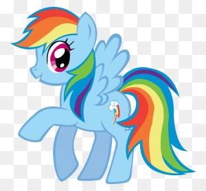 Unicorns And Rainbows - Rainbow Dash Clipart