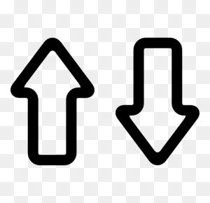 Up And Down, Up And Down Arrows, Arrows, Arrow Outline, Arrow Icon - Mobile Phone Clipart