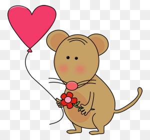 Valentine Mouse Valentine's Day Clip Art - Disney Valentine Clipart