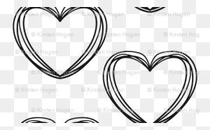 Valentine's Day Black And White Heart Stripes Cute Valentines Day - Valentines Day Black And White Clip Art