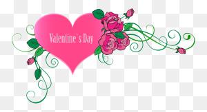 Valentine's Day Clipart Valentine Rose Heart - Long Stem Rose Clipart