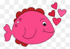 Valentine's Day Fish Valentine's Day Clip Art Valentines - Happy Labor Day Clip Art