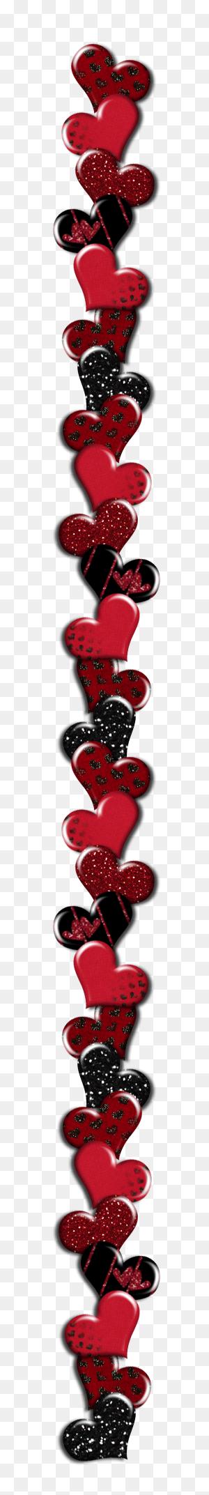 Valentine's Day Heart Border Transparent Png Clip Art Image - Valentine Border Clip Art