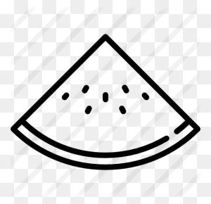 Watermelon - Watermelon Black And White Clipart