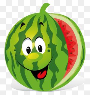 Watermelon Cartoon Clipart - Watermelon Black And White Clipart