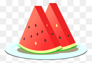 Watermelon Fruit Food - Watermelon Black And White Clipart