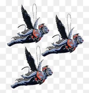 Wicked Flying Monkey Silhouette Flying Monkey Set Tall - Flying Monkey Clip Art