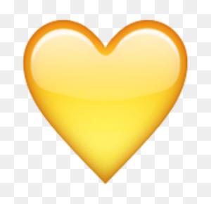 Yellow Heart Emojis !!! In Emoji, Heart Emoji, Heart - Yellow Heart Emoji PNG