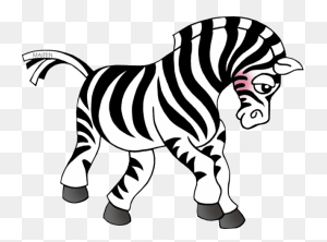 Zebra Clipart Line - Zebra Clipart Black And White