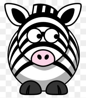 Zebra Looking Right Clip Art - Zebra Clipart