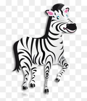 Zoo Safari Jungle Rainforest Zebras Alligator - Rainforest Animals Clipart