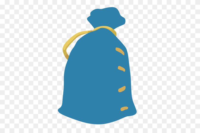 353x500 A Blue Sack - Sack Race Clipart
