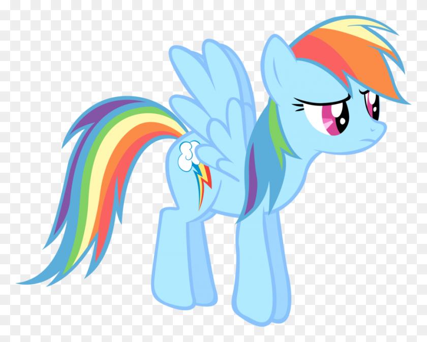 A Bored Rainbow Dash - Rainbow Dash Clipart