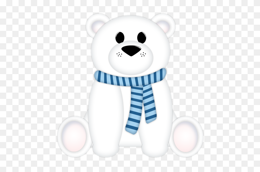 A Cute Winter Winter Clipart Bear, Polar Bear - Christmas Polar Bear Clipart