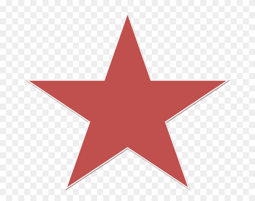 A Red Star - Star PNG Image