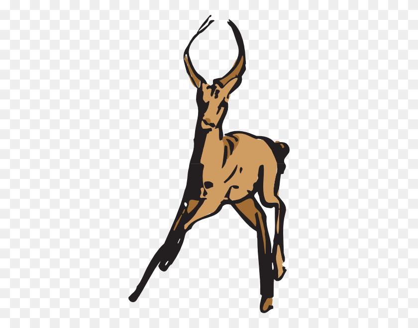 A Running Deer Vector - Running Away Clipart
