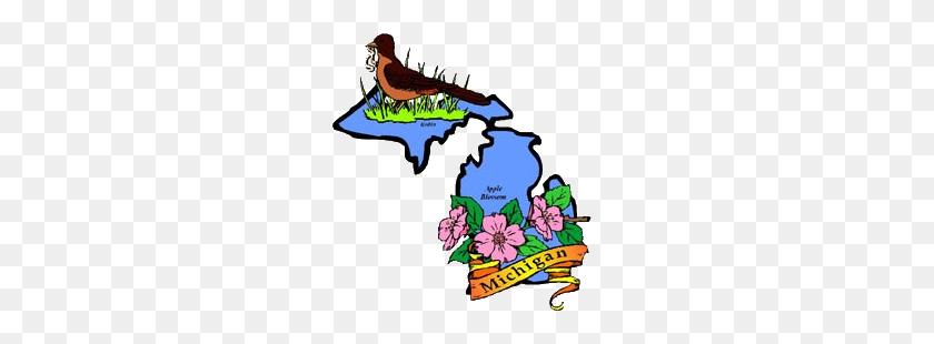 A To Z Kids Stuff Michigan Facts For Children - Michigan State Clip Art