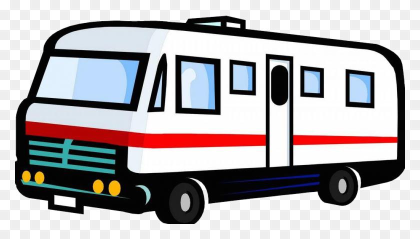 A Van On A Road Trip Clipart - Road Trip Clip Art
