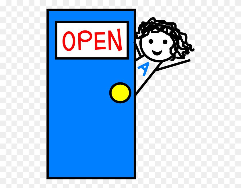 Abbie With Door New Blue Door Clip Arts Download - Open Door Clipart