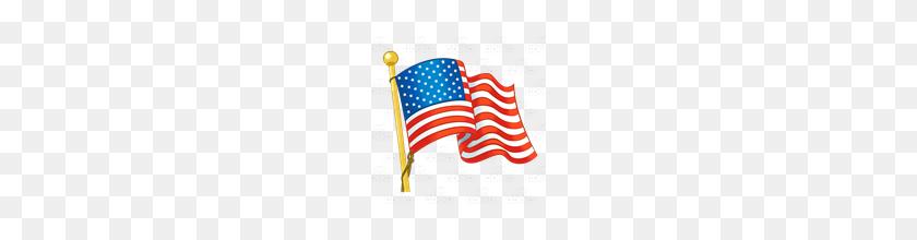 Abeka Clip Art American Flag Waving R - Waving American Flag Clip Art