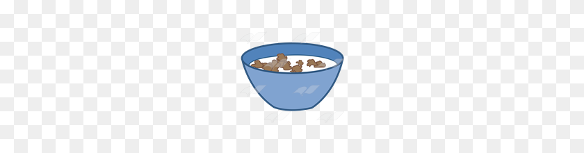 Abeka Clip Art Blue Bowl With Cereal And Milk - Cereal Bowl PNG