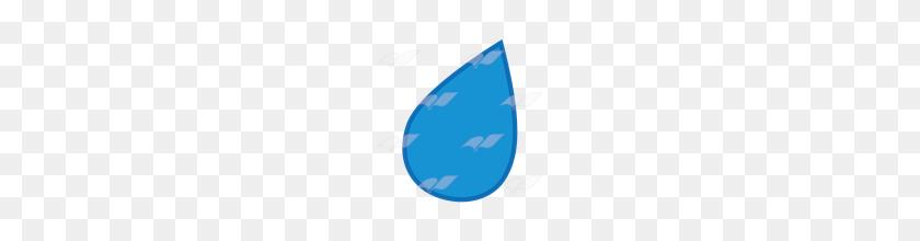 Abeka Clip Art Blue Raindrop - Raindrop PNG
