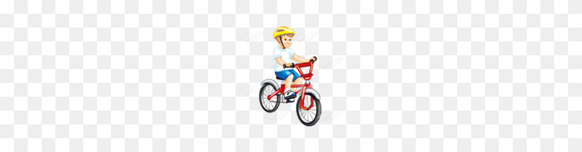 Abeka Clip Art Boy Riding Bike - Boy Riding Bike Clipart