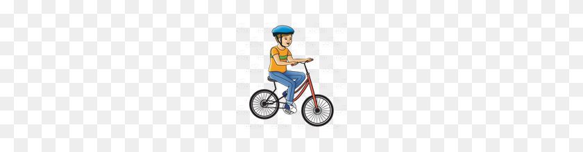Abeka Clip Art Boy Riding Red Bike - Boy Riding Bike Clipart