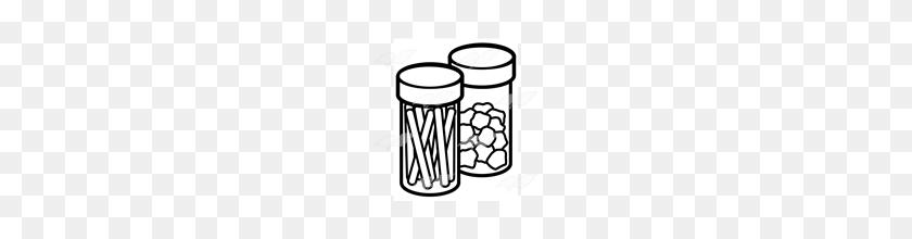 160x160 Abeka Clip Art Cotton Balls And Sticks In Jars - Cotton Ball Clipart