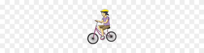 Abeka Clip Art Girl Riding Bike - Girl Riding Bike Clipart