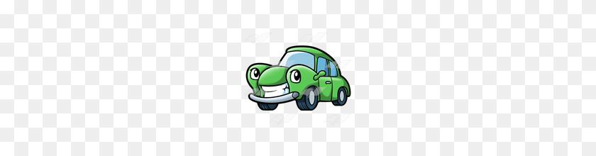 Abeka Clip Art Green Cartoon Car - Green Car Clipart