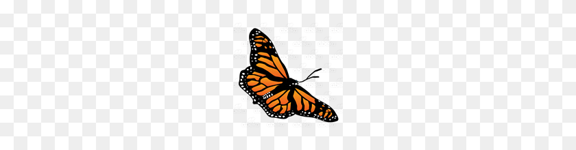 Abeka Clip Art Monarch Butterfly Diagonal - Monarch Butterfly PNG