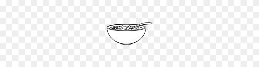 Abeka Clip Art Red Bowl Of Cereal - Cereal Bowl PNG