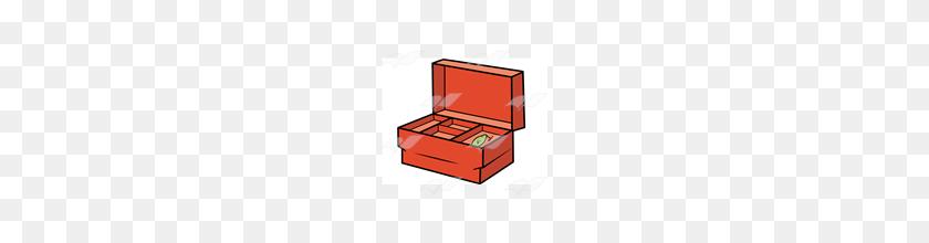 160x160 Abeka Clip Art Red Tackle Box - Tackle Box Clipart