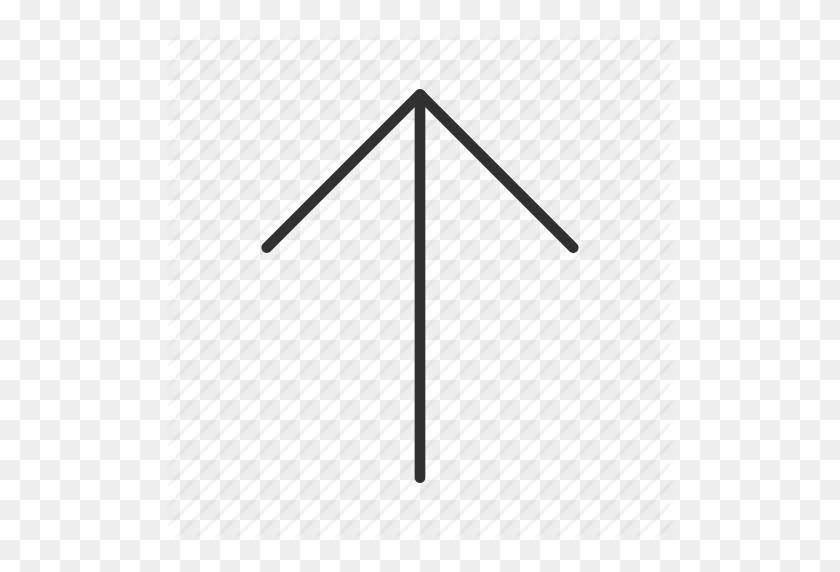 Above, Arrow, Thin Arrow, Thin Rounded Line Arrow, Up, Upload Icon - Thin Arrow PNG