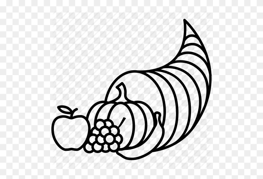 Abundance, Basket, Cornucopia, Harvest, Horn, Plenty, Thanksgiving - Thanksgiving Cornucopia Clipart