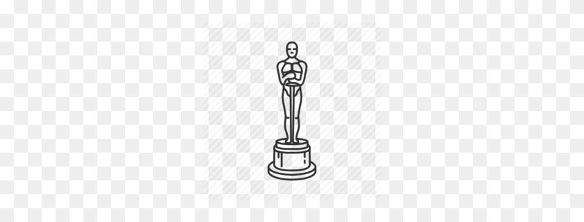 Academy Award Oscar Trophy Clipart - Oscar Award Clipart