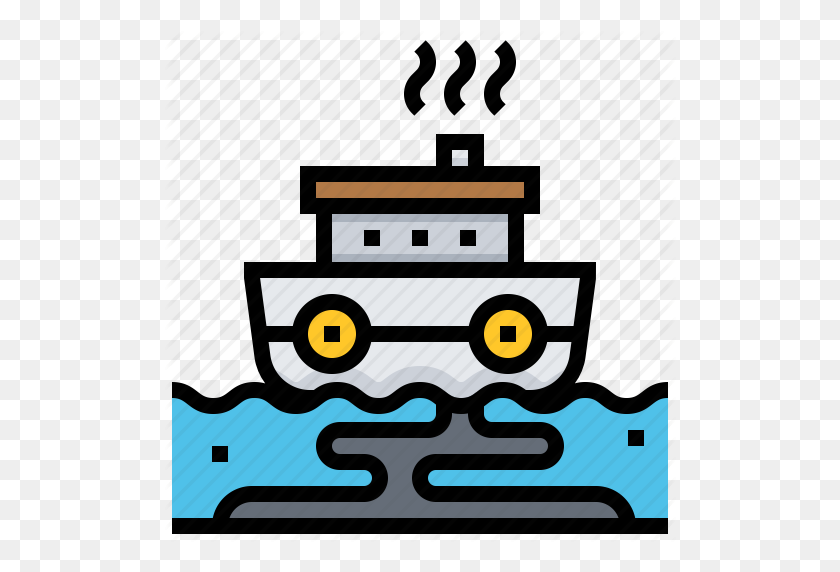 Accident, Oil, Pollution, Ship, Spill Icon - Oil Spill Clipart