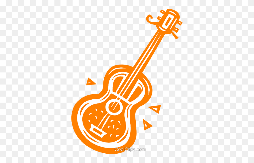 Acoustic Guitar Royalty Free Vector Clip Art Illustration - Acoustic Guitar Clipart