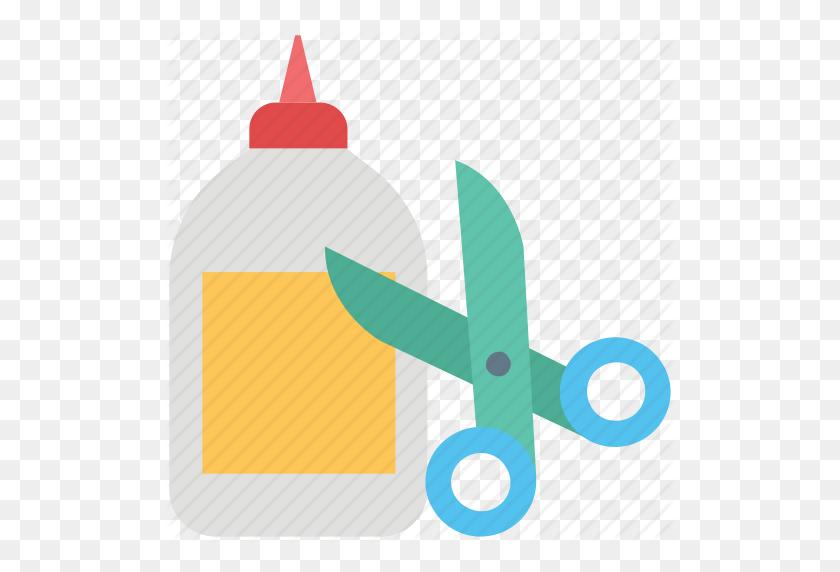 Adhesive, Cutting, Glue, Glue Bottle, Scissor, Shears, Stationary Icon - Glue Clipart