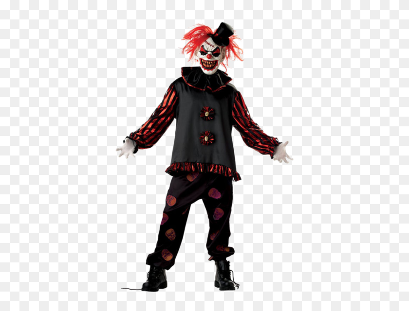 Adult Carver The Killer Clown Costume Killer Clowns - Scary Clown PNG