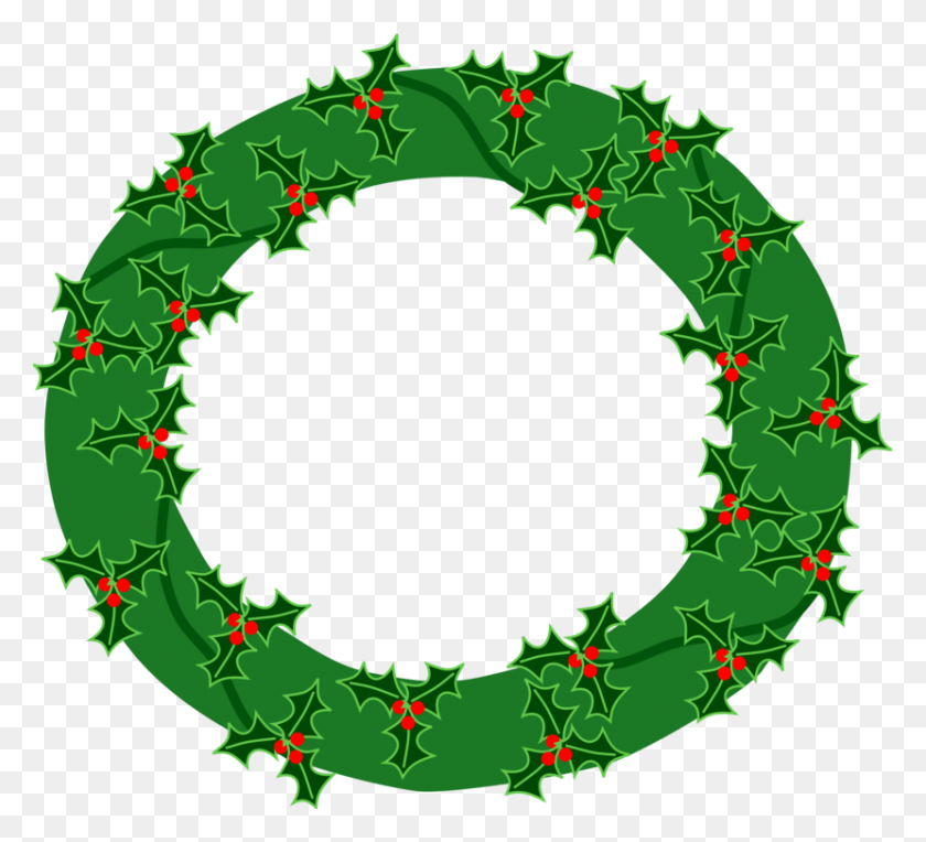 Advent Wreath Garland Christmas Day Laurel Wreath - Watercolor Wreath Clipart