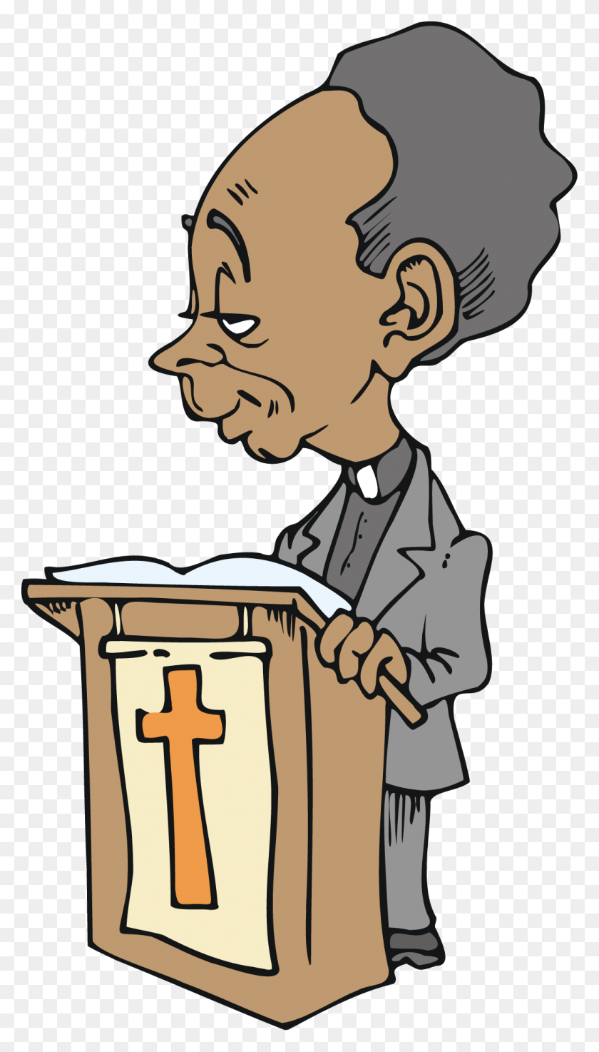 African American Preacher Clip Art - Preacher Clipart