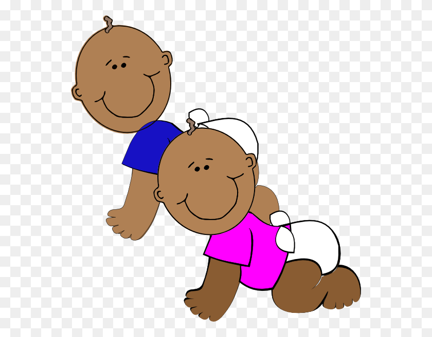 African American Twins Clip Art - Twins Clipart