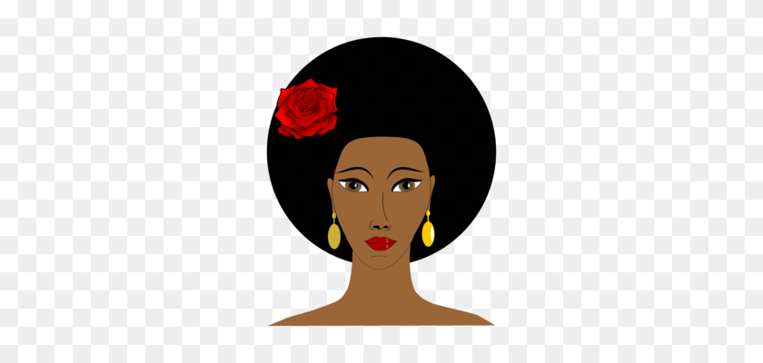 African Americans Black Power Afro Free Negro - Woman With Afro Clipart