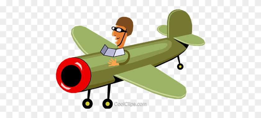 Airplane Royalty Free Vector Clip Art Illustration - Propeller Plane Clipart